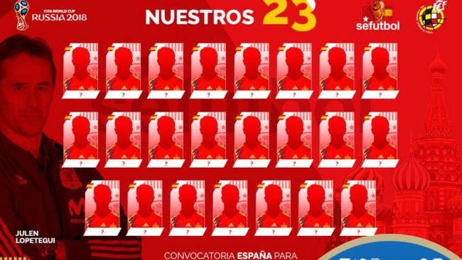 Convocatoria selección Española: Los 23 elegidos por Lopetegui para...