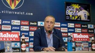Fernando Roig en una rueda de prensa
