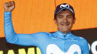 Richard Carapaz, vencedor de etapa en Montevergine.
