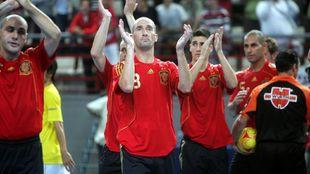Javi Eseverri durante un partido de la selección española