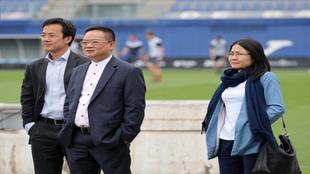 Chen, durante su visita a la Ciudad Deportiva.