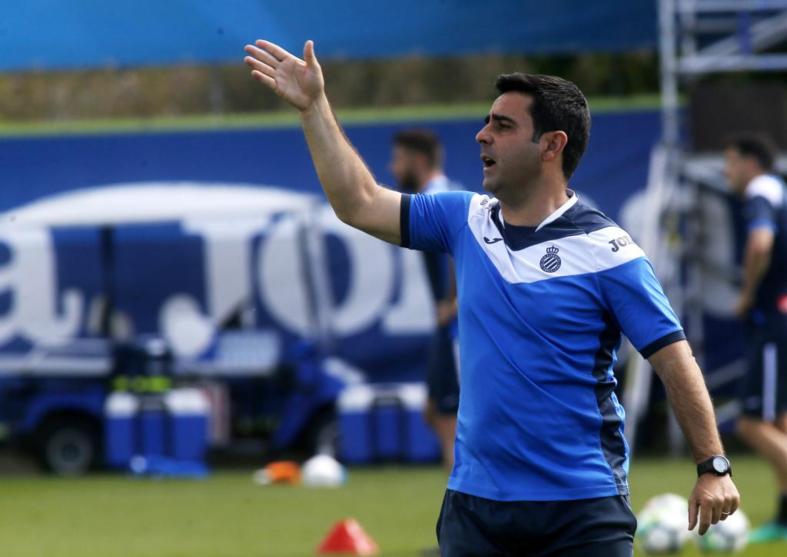 David Gallego, durante un entrenamiento en Sant Adrià.