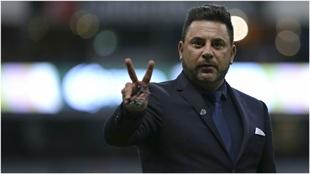 'Turco' Mohamed, en un partido con Monterrey.