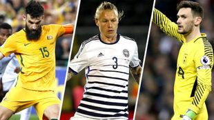 Los capitanes de la selecciones rivales de Perú en el Mundial...