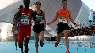 Carles Castillejo, en el Mundial de medio maratón de Valencia