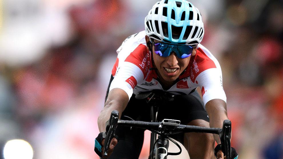 Egan Bernal, en el Tour de Romandía que acabó segundo con una...