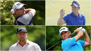Harrington, Donald, McDowell y Westwood.