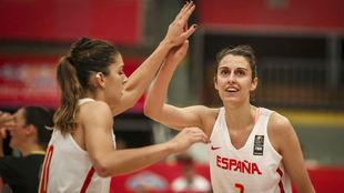 Marta Xargay y Alba Torrens durante el EuroBasket de 2017