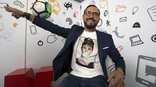 Pepe Bordalás durante la entrevista en MARCA.