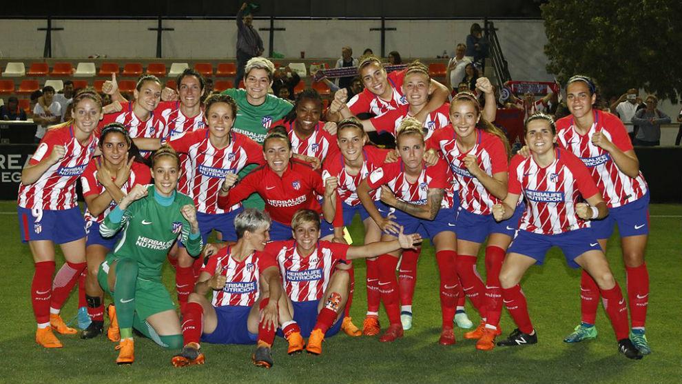 El Atlético de Madrid celebra su pase a semifinales de Copa en...