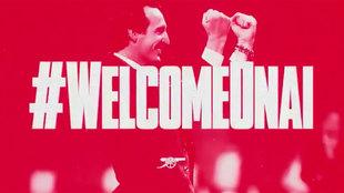 Unai Emery, nuevo técnico del Arsenal.