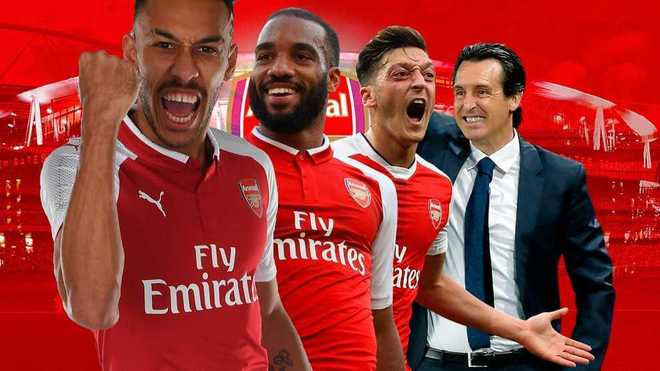 Image result for Unai emery and arsenal players