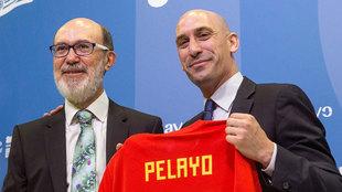 El presidente de la Real Federación Española de Fútbol, Luis...