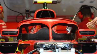 Espejos de Ferrari, sobre el halo, pero sin el soporte que presentaban...