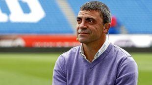 Manolo Sanchís durante una entrevista con MARCA
