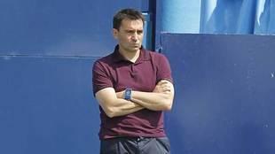 Asier Garitano, durante un partido.