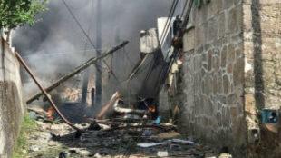 Explosión de un almacén de pirotecnia en Tui
