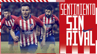 Imagen promocional de la camiseta del Atlético.