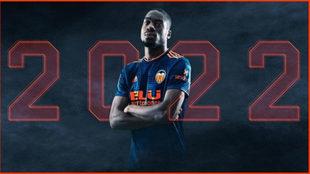 Imagen con la que el Valencia ha anunciado el fichaje de Kondogbia.