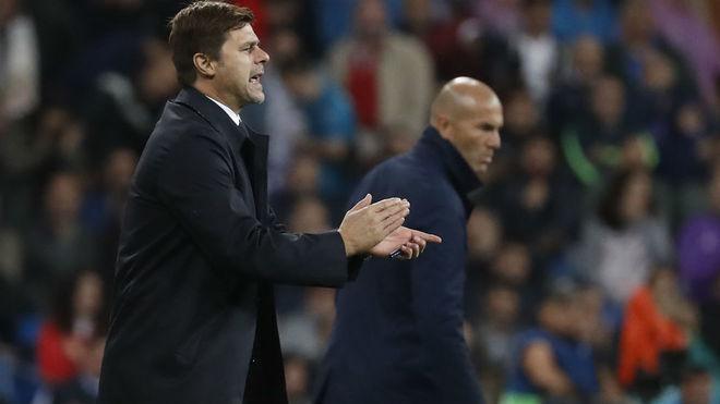 Pochettino, en el partido del Bernabéu de esta temporada con Zidane...