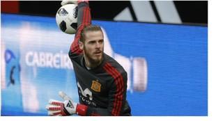 David de Gea, con la selección española.