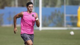 Chema, durante un entrenamiento en la Ciudad Deportiva de Buñol.