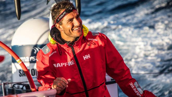 Blair Tuke, durante la Volvo Ocean Race con el MAPFRE.
