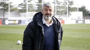 Óscar Fernández, en el último derbi ante el Castilla.