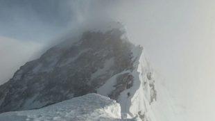 La imponente cumbre del Everest vista y fotografiada por Latorre...