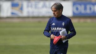 Natxo González durante un entrenamiento.