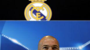 Zidane, en el 'media day' del Real Madrid