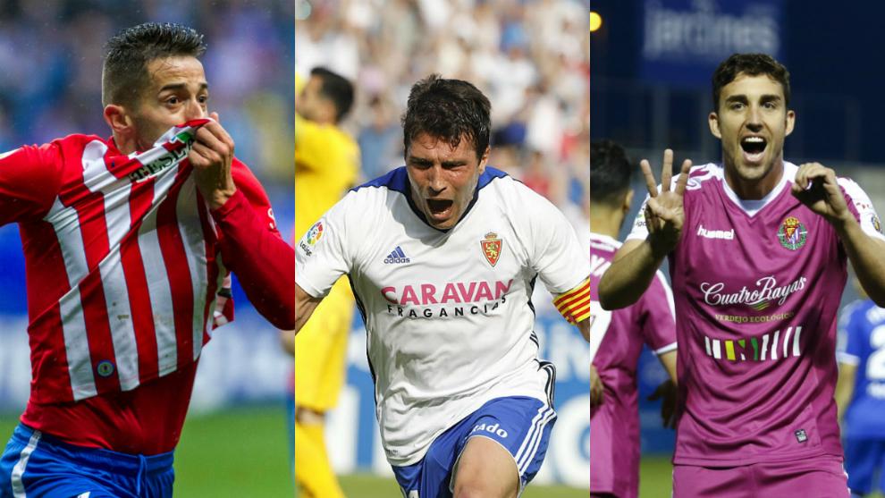 Jony, Zapater y Mata, tres puntales de Sporting, Zaragoza y Valladolid