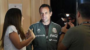 Gerardo Torrado, en el Día de Medios de la selección mexicana.