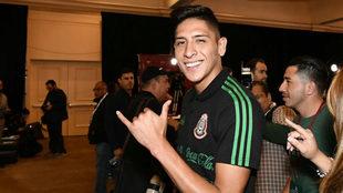 Edson Álvarez, en el Media Day