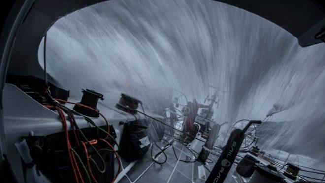 La flota se ha visto inmersa en unas salvajes condiciones de viento.