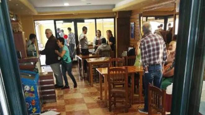 El interior del bar donde se produjeron los incidentes.