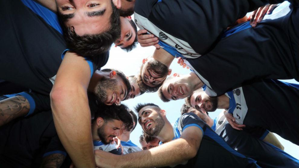 Los jugadores del Espanyol B.