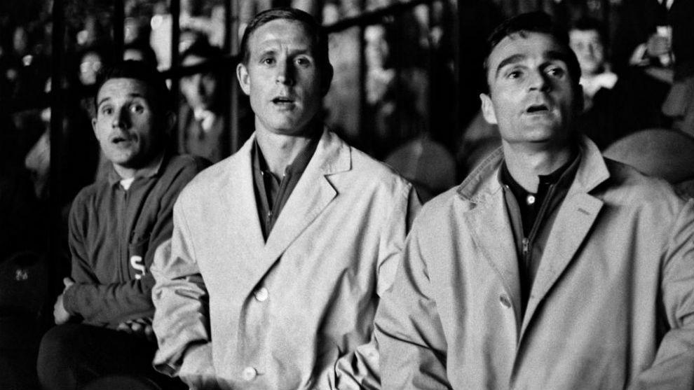 Dominique Colonna, Raymond Kopa and Roger Piantoni.