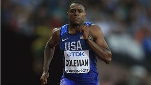 Christian Coleman, en imagen de archivo, durante una carrera