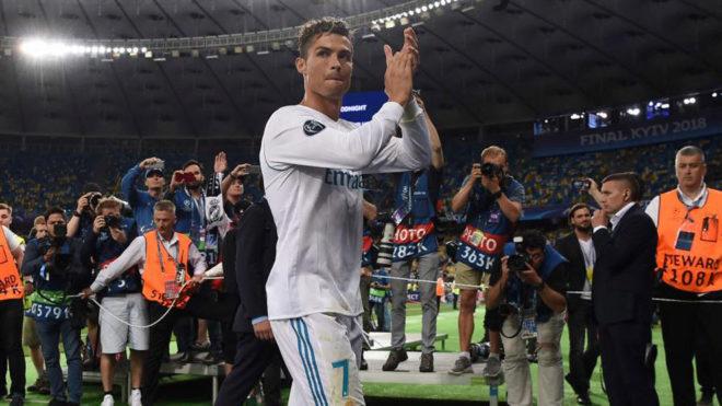 Cristiano, tras ganar la Champions.