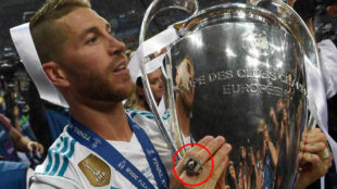 Sergio Ramos wore a ring similar to the NBA champions