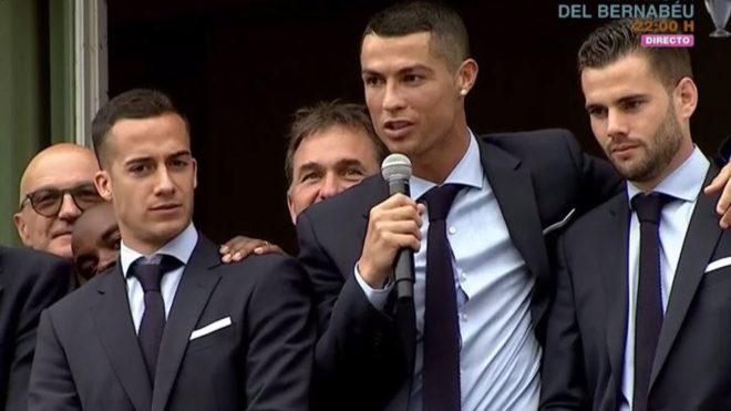 Lucas Vazquez, Cristiano Ronaldo and Nacho Fernandez