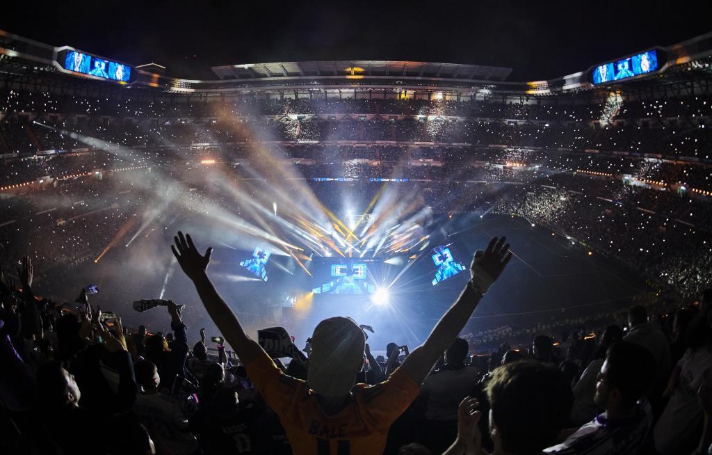 La celebración de la Champions, en el Bernabéu.