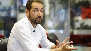 Pablo Machín, en una entrevista con MARCA.