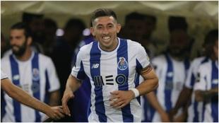Héctor Herrera, en la celebración del título de Liga con el Porto.