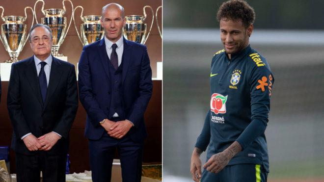 Florentino Perez, Zinedine Zidane and Neymar