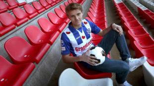 Odegaard, con la camiseta del Heerenveen