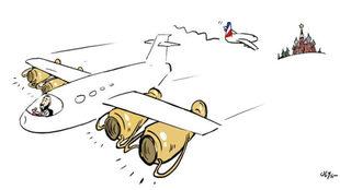 La viñeta del 'avión Benzema'.