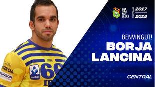 Cartel de presentación del fichaje de Borja Lancina