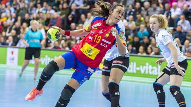 Paula García, en uno de los partidos disputados en marzo contra...